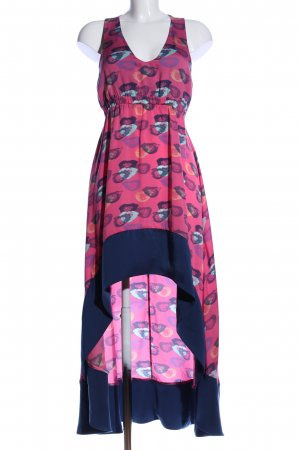 Andy Warhol by Pepe Jeans London High Low Dress pink-blue abstract pattern