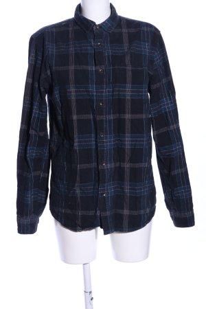 Anerkjendt Lumberjack Shirt black-blue allover print casual look