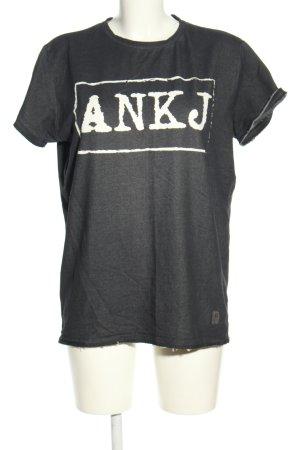 Anerkjendt T-Shirt hellgrau-weiß meliert Casual-Look