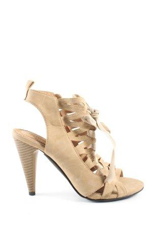 Anesia Paris High Heel Sandaletten creme Casual-Look