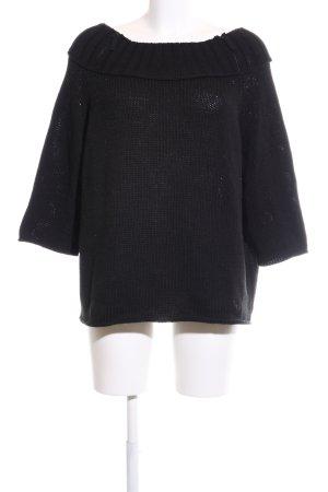 Anette Görtz Sweater met korte mouwen zwart casual uitstraling