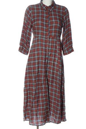 Ange Robe chemise motif à carreaux style décontracté