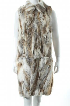 Ange Paris Fur vest oatmeal-light brown extravagant style
