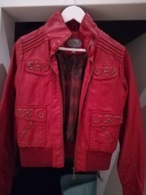 Leather Jacket red imitation leather