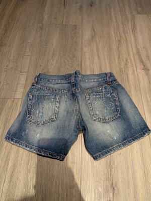 Angel Devil Denim Shorts blue