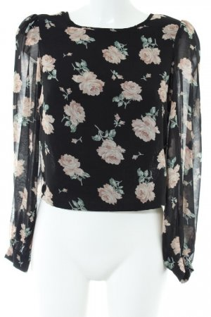 Angel Eye Long Sleeve Blouse flower pattern