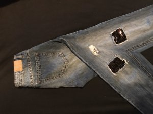 Angel of Style Jeans boyfriend blu acciaio
