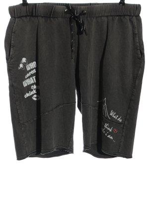Angel of Style Shorts grigio chiaro Stampa a tema stile casual
