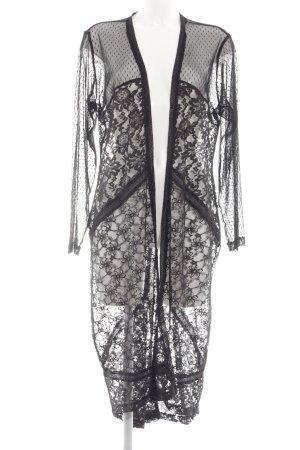 Angel of Style Cardigan black flower pattern elegant