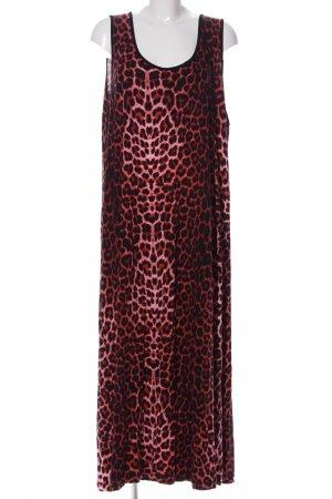 Angel of Style Sukienka maxi różowy-czarny Na całej powierzchni