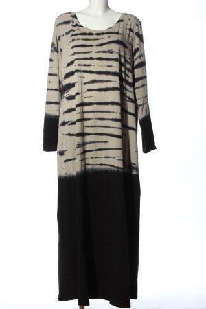 Angel of Style Sukienka maxi w kolorze białej wełny-czarny Abstrakcyjny wzór