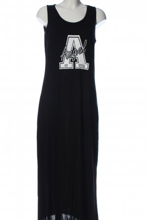 Angel of Style Maxi Dress black-white themed print casual look