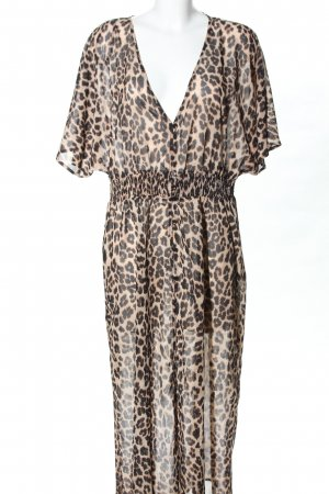 Angel of Style Night Coat nude-black allover print elegant
