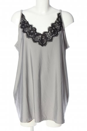 Angel of Style Spaghetti Strap Top light grey-black casual look