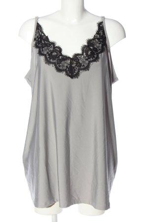 Angel of Style Top z cienkimi ramiączkami jasnoszary-czarny W stylu casual