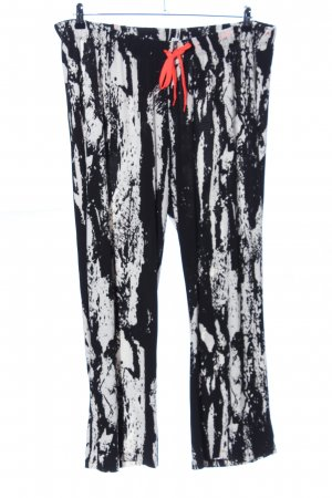 Angel of Style Stoffen broek wit-zwart abstract patroon casual uitstraling