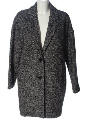 Angela Davis Manteau long noir-blanc style décontracté