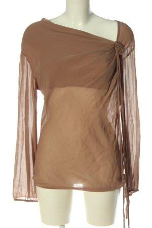 Angela Davis Bluzka z długim rękawem brązowy W stylu casual