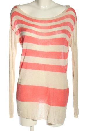 Angela Davis Maglione lungo rosa-crema motivo a righe stile casual