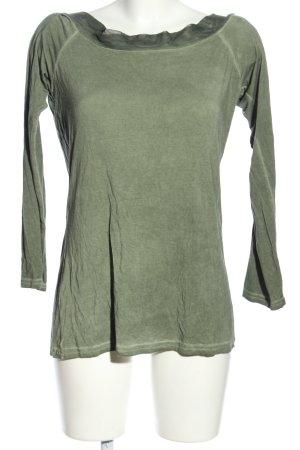 Angela Davis Koszulka z długim rękawem khaki W stylu casual