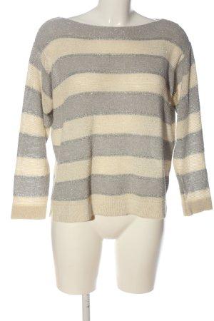 Angela Davis Sweter z okrągłym dekoltem kremowy-jasnoszary Wzór w paski