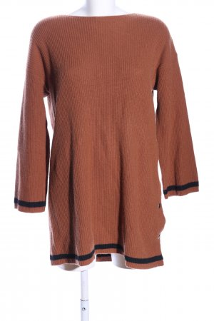 Angela Davis Knitted Dress brown-black casual look