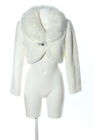 Angela Chaqueta de piel sintética blanco elegante