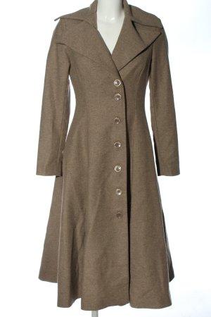 Angela Mele Milano Długi płaszcz brązowy Melanżowy W stylu casual
