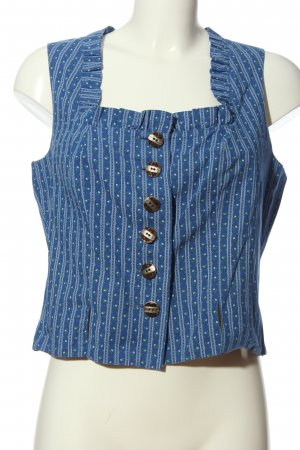 Angelika Böhm Traditional Vest blue-white allover print casual look