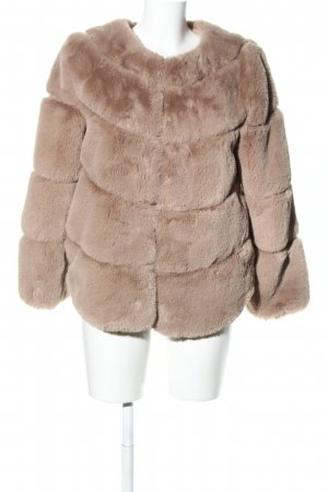 Angelique Giacca in eco pelliccia color carne stile casual