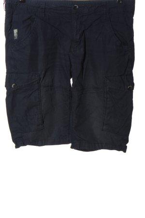 angelo litrico Pantalon 3/4 bleu motif rayé style décontracté