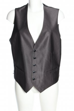 angelo litrico Waistcoat black-silver-colored casual look
