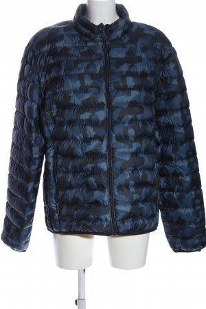 angelo litrico Down Jacket blue-black abstract pattern casual look
