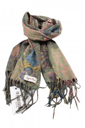 angelo litrico Fringed Scarf flower pattern casual look