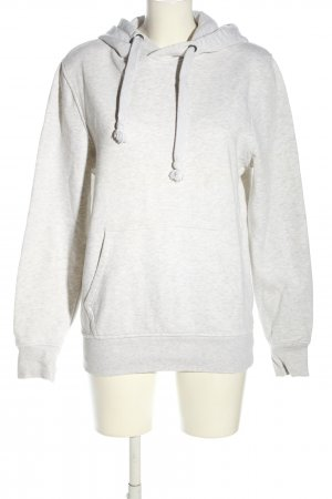 angelo litrico Hooded Sweatshirt light grey flecked casual look