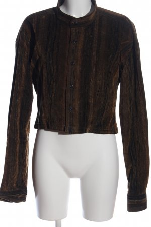 angelo litrico Short Blazer brown-black striped pattern casual look