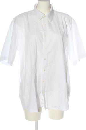 angelo litrico Chemise à manches courtes blanc motif rayé style d'affaires