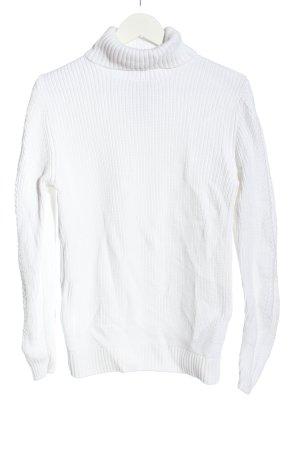angelo litrico Sweter z golfem biały W stylu casual