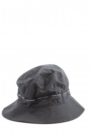 angelo litrico Fabric Hat black printed lettering casual look