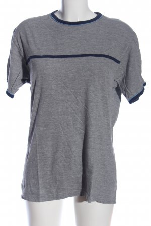 angelo litrico T-Shirt light grey-blue flecked casual look