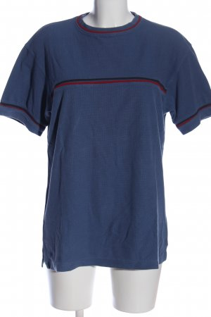 angelo litrico T-Shirt blue striped pattern casual look