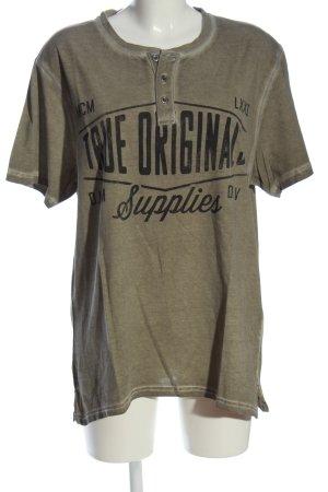 angelo litrico T-shirt gris clair-noir moucheté style décontracté