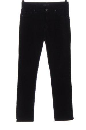 Angels Pantalon en velours côtelé noir style décontracté