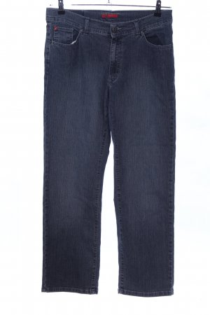 Angels Hoge taille jeans blauw gestippeld casual uitstraling