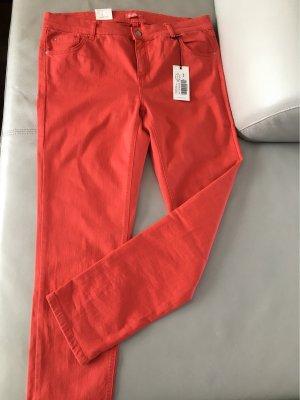 Angels Jeans Hose Skinny Slim Fit rot Sommerhose Gr. 46, NEU mit Etikett