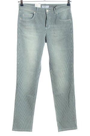 Angels Spodnie rurki niebieski-biały Wzór w paski W stylu casual