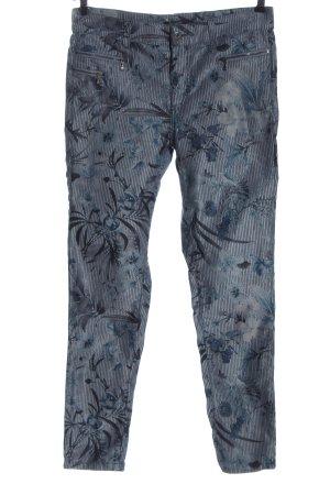 Angels Jeans cigarette bleu-gris clair motif de fleur style décontracté