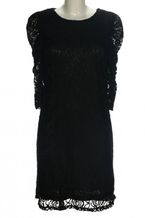 Angels Lace Dress black abstract pattern casual look