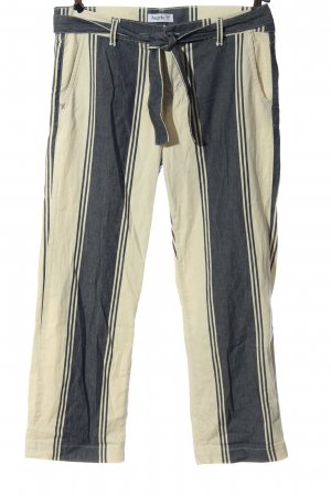 Angels Pantalone jersey bianco sporco-blu motivo a righe stile casual