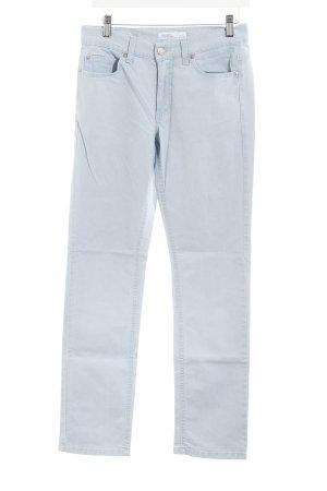 Angels Straight-Leg Jeans hellblau Logo-Applikation aus Leder